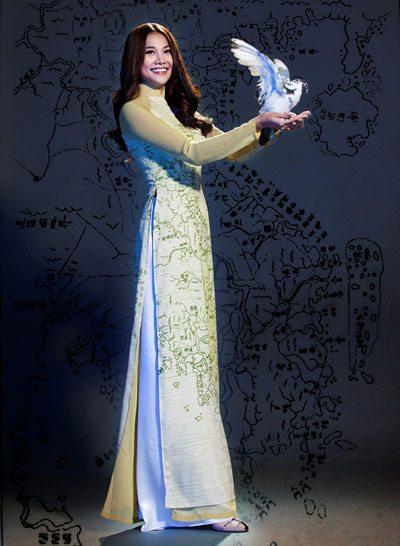 Người mẫu Thanh Hằng.